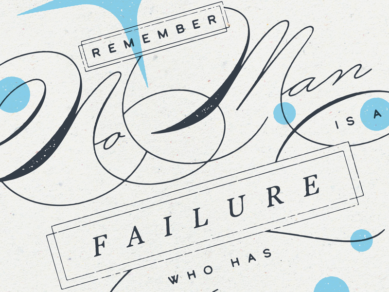 Remember No Man is a Failure Who Has Friends type movie christmas print its a wonderful life film typography