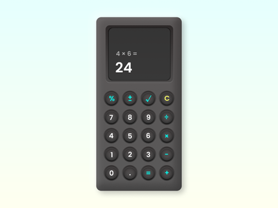 Daily UI #004 • Calculator illustraion neomorphism skeumorphism retro calculator app design daily ui daily 100 challenge dailyui004 dailyui