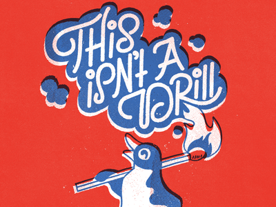 This Isn't A Drill vintage doodle illustration calligraphy graphic design font lettering handlettering type typography