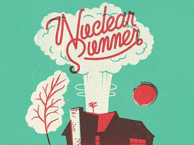 Nuclear Summer vintage doodle illustration calligraphy graphic design font lettering handlettering type typography