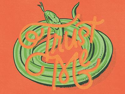 Trust Me... vintage doodle illustration calligraphy graphic design font lettering handlettering type typography
