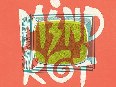 Mind Rot vintage doodle illustration calligraphy graphic design font lettering handlettering type typography