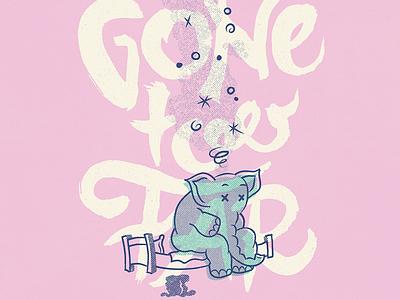Gone Too Far vintage doodle illustration calligraphy graphic design font lettering handlettering type typography