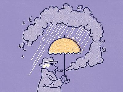 Smoke Up A Storm texture drawing doodle vintage graphic design illustration