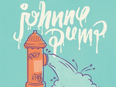 Johnny Pump vintage doodle illustration calligraphy graphic design font lettering handlettering type typography
