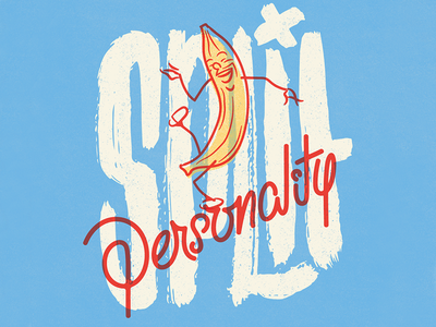 Split Personality vintage doodle illustration calligraphy graphic design font lettering handlettering type typography