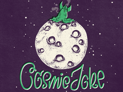 Cosmic Joke vintage doodle illustration calligraphy graphic design font lettering handlettering type typography