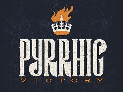 Phyrric Victory design font illustration type
