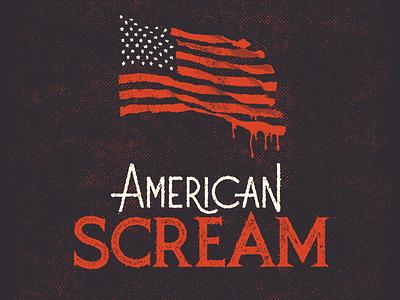 American Scream design font illustration type