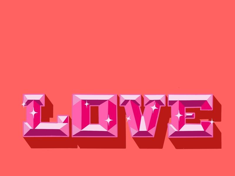 LOVE HAND LETTERING pink ipadpro handlettering typography illustration design