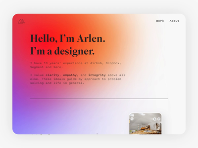 Portfolio Site gradient animation ui portfolio site design minimal website