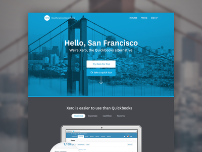 Hello, SF :) landing page tech startup light company minimal corporate photographic clean website web