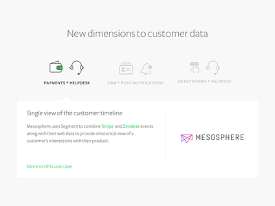 Customer Data landing page analytics alerts crm helpdesk payments typography icons design web ui