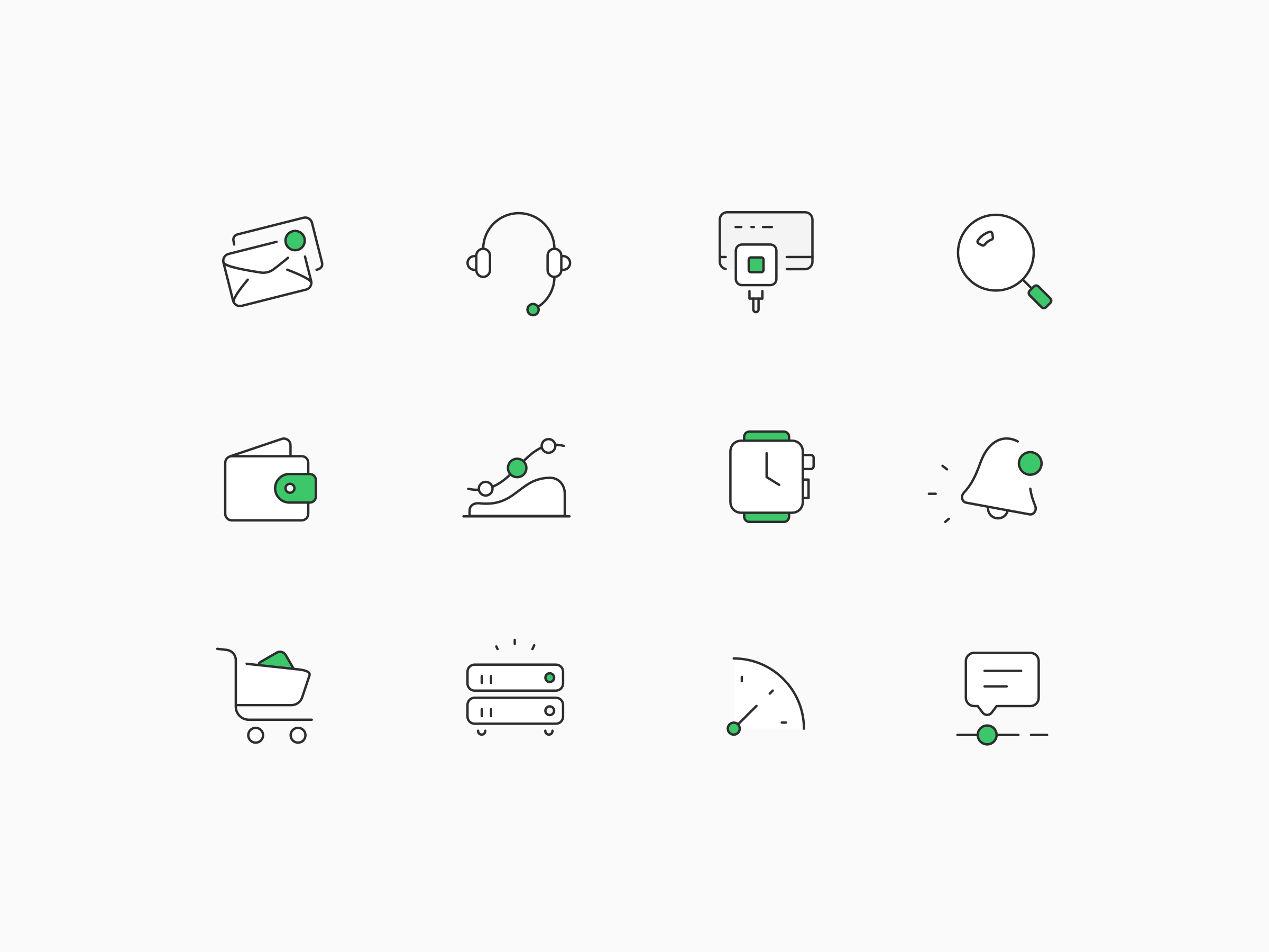 Illustrated icons large