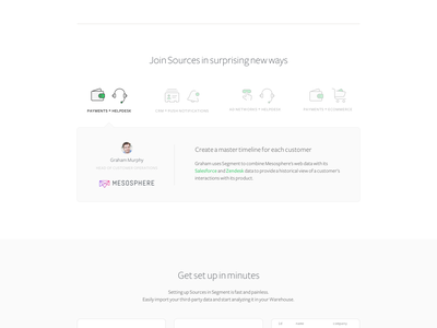 Sources website ui web design icons typography analytics landing page