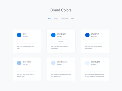 Colors ui brand colors swatches pattern library