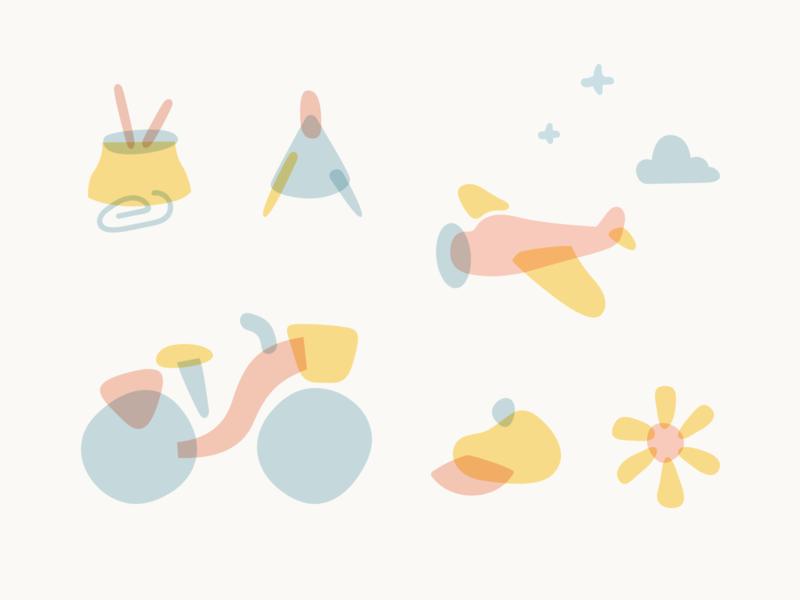 Playful Illustrations color flat illustration