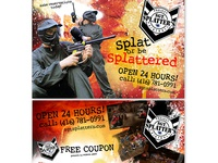 Sgt. Splatter Paintball - Flyer