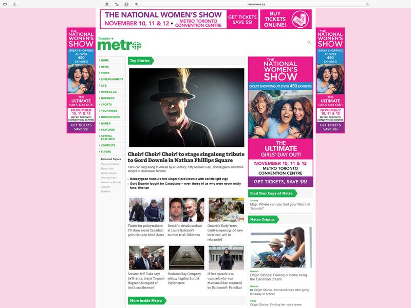 National Women's Show - Digital Ads - Website Takeover identity branding graphic design brand design graphic takeover website advertisement ads digital