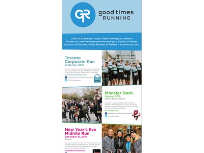 Good Times Running - Pull Up Banner