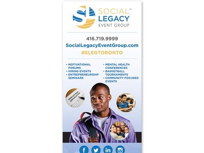 "Social Legacy Event Group - Pull Up Banner (33"" x 81"")"