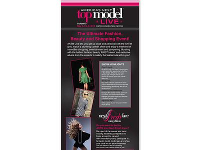 America's Next Top Model Live - Pull Up Banner logo promotion marketing advertising branding print graphic design sign pull up banner banner