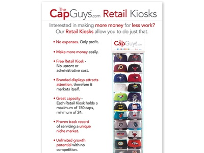 TheCapGuys.com - Retail Kiosks -  Poster retail kiosks caps hats apparel fashion graphic brand poster design