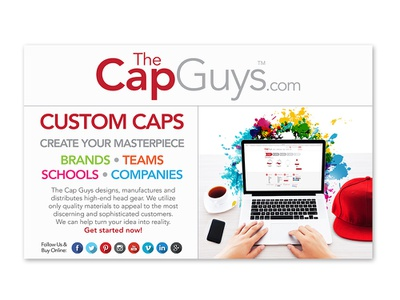 TheCapGuys.com - Event Poster thecapguys companies schools teams brands website app online hats caps custom apparel fashion brand corporate brand identity identity graphic design branding design