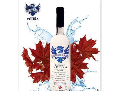 Silver Lake Vodka - Print Ad corporate brand identity identity logo graphic design brand canadian liquor vodka design graphic advertising promotion poster branding ad print