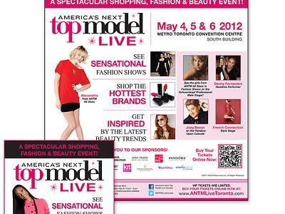 America's Next Top Model Live - Print Ad promotion brand event print ad logo newspaper graphic design branding design