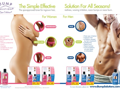 Bump Solutions - Print Ad skin care logo indentity package design promo promotion design graphic ad print