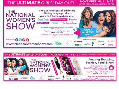 National Women's Show - Print Ad logo design news newspaper promotion brand branding graphic design print ad