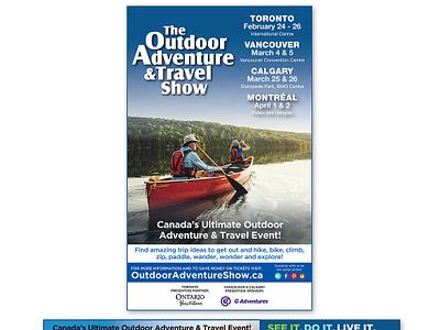 The Outdoor Adventure Show - Print Ads brand advertising promotion print ad event logo graphic design branding design