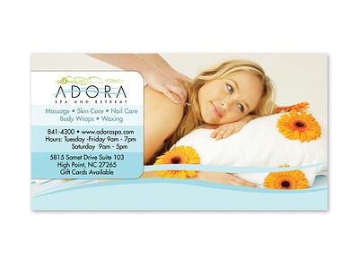Adora Spa and Retreat - Print Ad advertisement ad print logo graphic design branding design