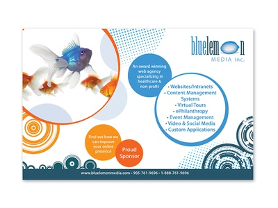 Blue Lemon Media - Print Ad logo graphic design brand branding design graphic print ad
