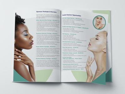 The Canadian Aesthetics Expo Sponsorship Kit exhibitors advertisers events sponsors sales kit vector illustration identity graphic design branding design