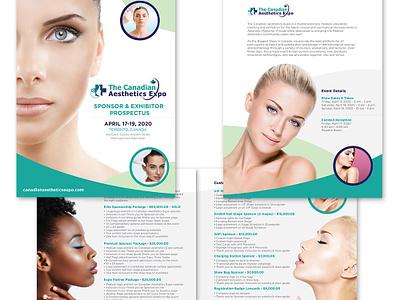 The Canadian Aesthetics Expo Sponsorship Kit booklets sales kit print identity logo graphic design branding design