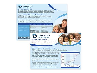 DF Insurance Solutions - Flyer advertising marketing printing flyer vector graphic design branding design