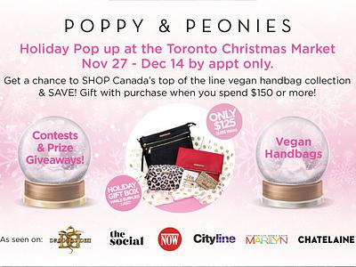 Poppy & Peonies - Influencer - Flyer corporate brand identity logo texture brand postcard identity graphic design branding design