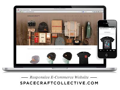 Spacecraft Collective Website responsive spacecraft apparel e-commerce