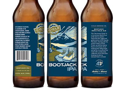 Bootjack IPA beer packaging bottle label national park