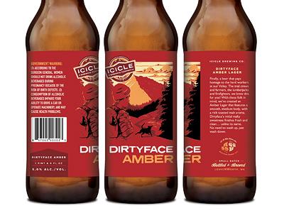 Dirtyface Amber Lager beer packaging bottle label national park