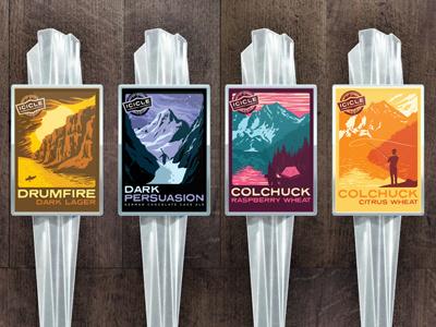 Icicle Brewing Seasonal Tap Handles beer tap handle seasonal national park