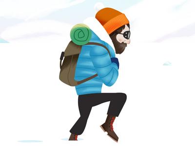 Antarctic Traveler arctic antarctica mountain man snow