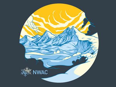 NWAC Mountainscape t-shirt mountains screenprint