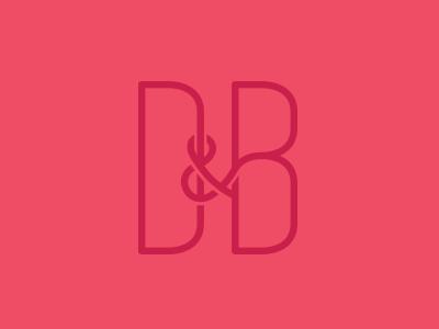 Save The Date Monogram monogram d b typography