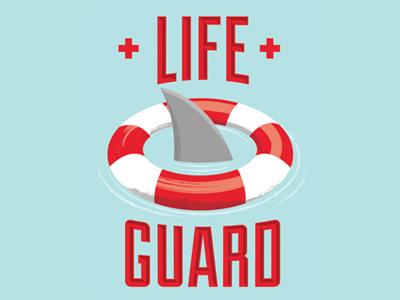 Life Guard - Bier De Garde shark lifeguard illustration tap handle beer