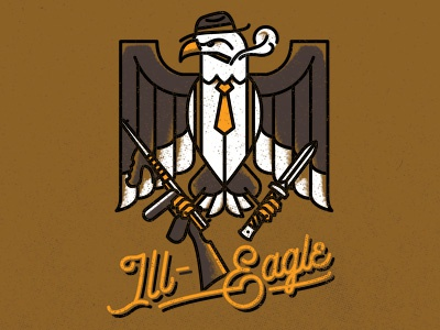 Ill-Eagle Imperial IPA illegal gangster ipa eagle illustration tap handle beer