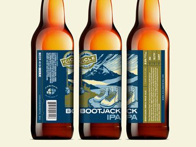 BootJack IPA 2015 Label Update ipa label bottle label illustration beer