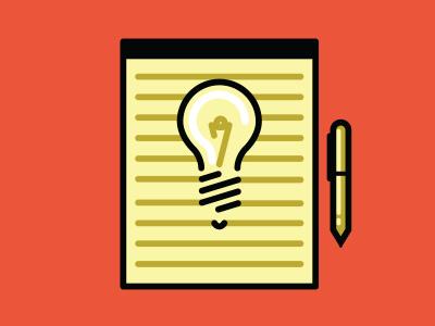 Ideas legal pad pad of paper pen idea illustration editorial